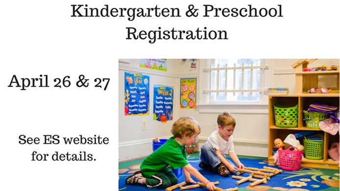 K & Preschool Registration