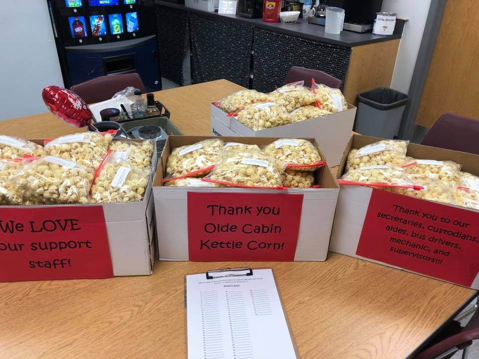 Olde Cabin Kettle Corn Donates to Staff