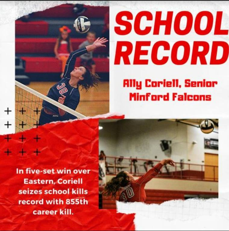 Ally Coriell Sets School Record with 855 Career Kills